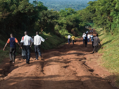 The road to Masindi, all 150km like this.  Shaken and not stirred.